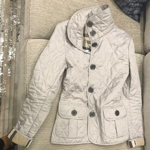 Authentic Burberry Brit Quilted Jacket XS Beige